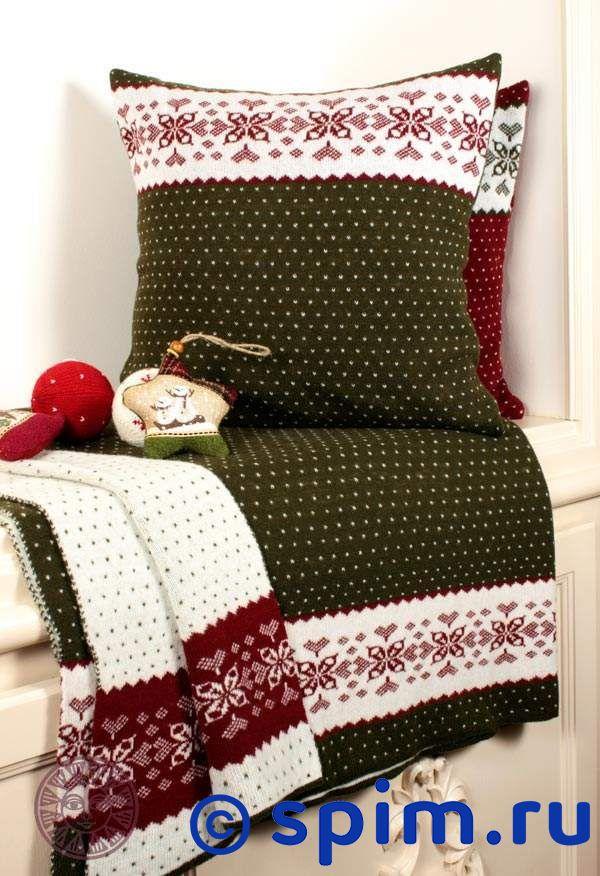 Плед Luxberry Norway, зеленый/белый/бордо