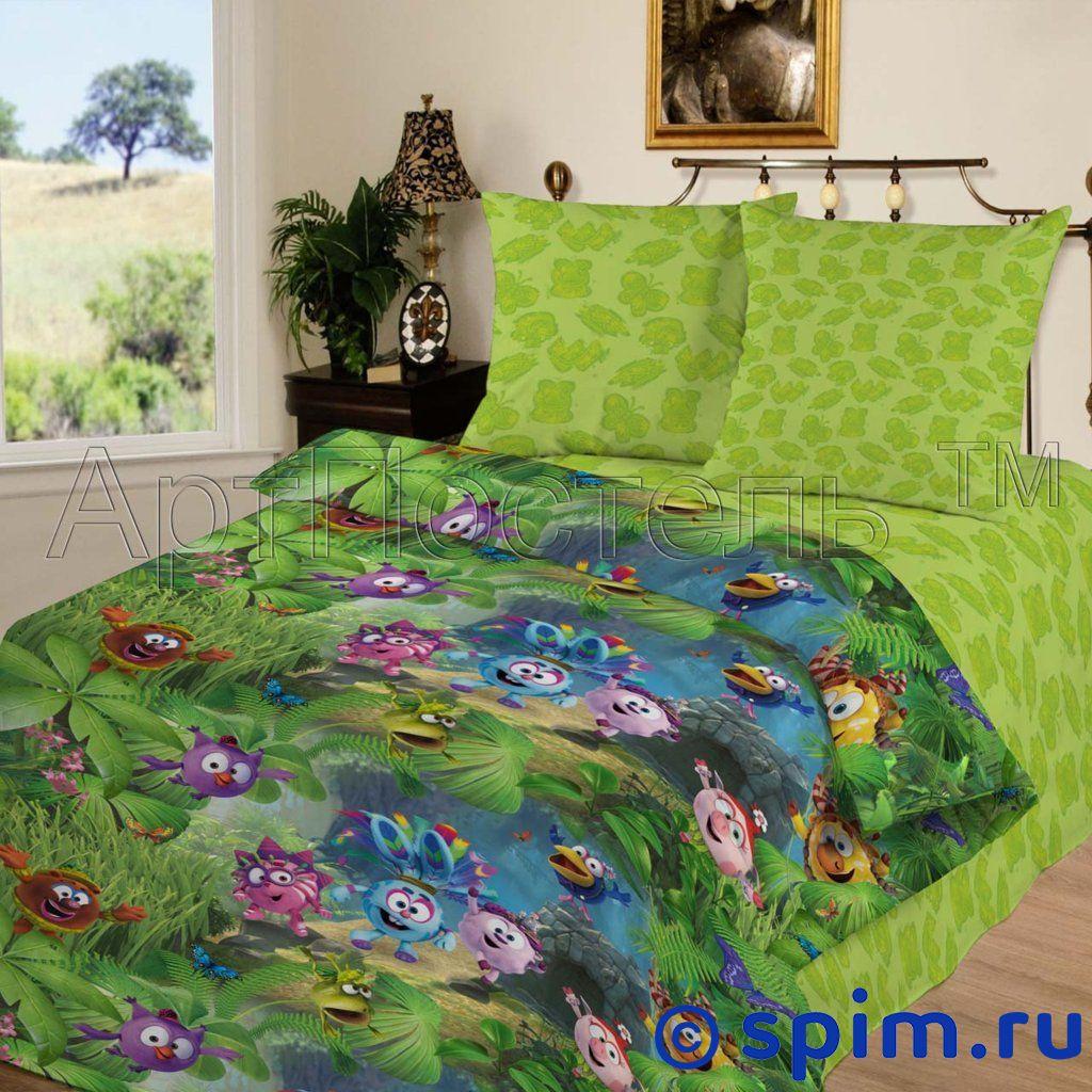 Комплект Смешарики Джунгли АртПостельДетское постельное белье АртПостель<br>Материал: 100% хлопок, бязь. Плотность, г/м2: 125.<br>