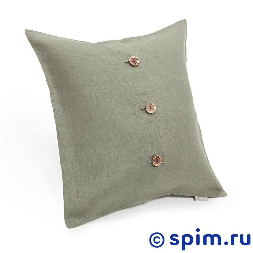 Декоративная подушка Helgi Home Бейсик, зеленыйПодушки Helgi Home<br>Материал: 100% лён. Размер, см: 43х43.<br>