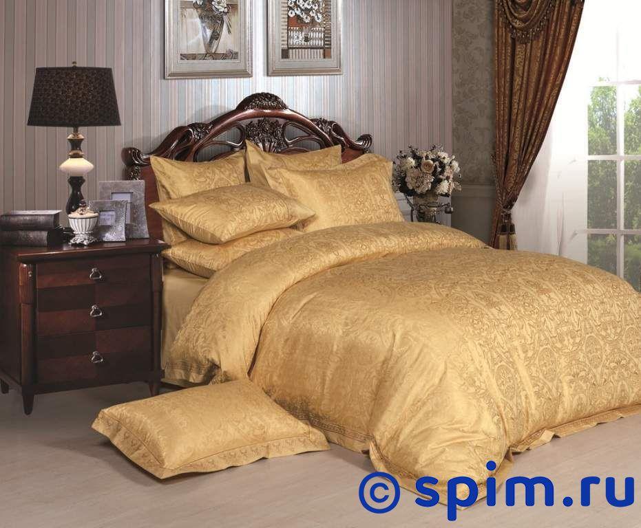Комплект Asabella 661 СемейноеЖаккардовое постельное белье Asabella<br>Состав: жаккард, вышивка(55% вискоза, 45% хлопок). Размер : Семейное<br><br>Размер: Семейное