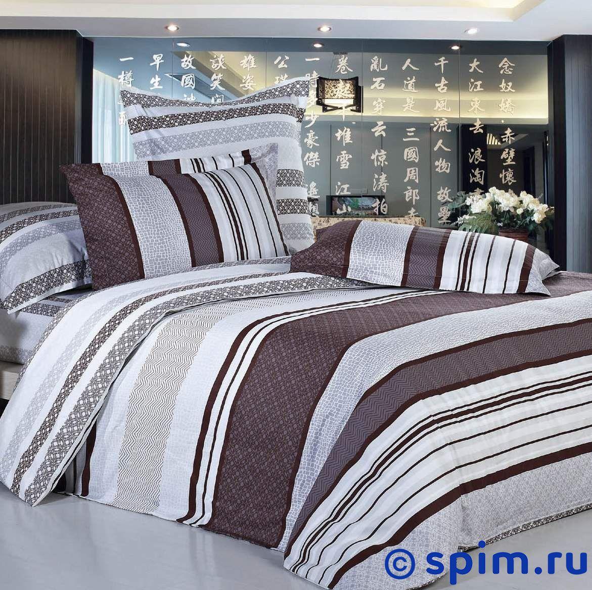 Комплект СайлиД В105 1.5 спальноеСатиновое постельное белье СайлиД<br>Материал: 100% хлопок (печатный сатин). Плотность, г/м2: 130. Размер Sailid Б: 1.5 спальное<br><br>Размер: 1.5 спальное