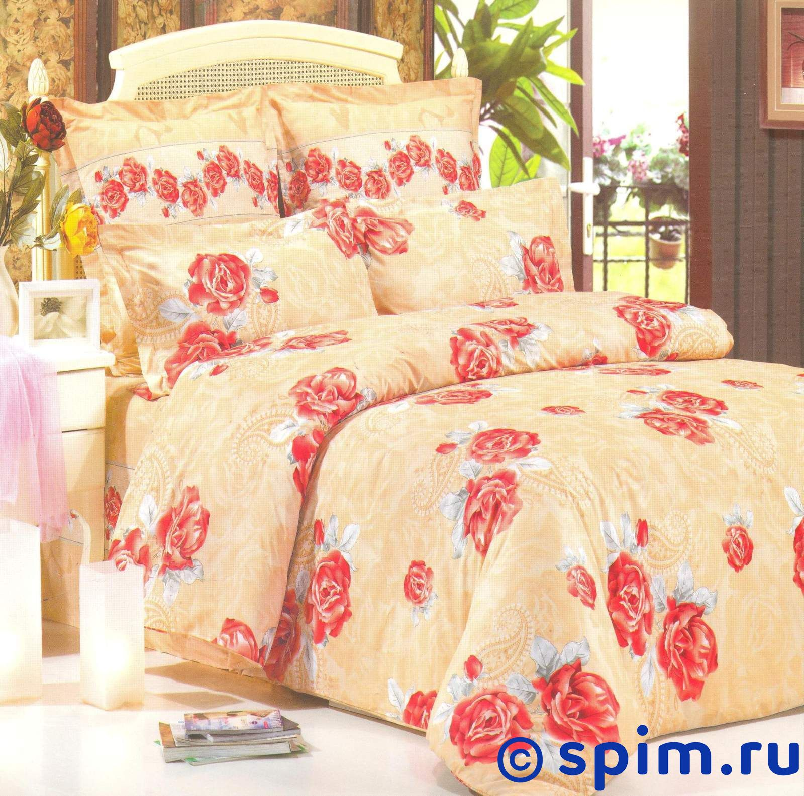 Комплект СайлиД В73 2 спальноеСатиновое постельное белье СайлиД<br>Материал: 100% хлопок (печатный сатин). Плотность, г/м2: 130. Размер Sailid Б: 2 спальное<br><br>Размер: 2 спальное