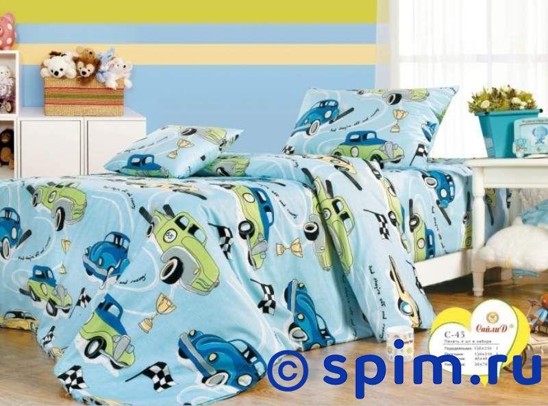 Комплект Сайлид С-45Детское постельное белье СайлиД<br>Материал: 100% хлопок, поплин. Плотность, г/м2: 125.<br>