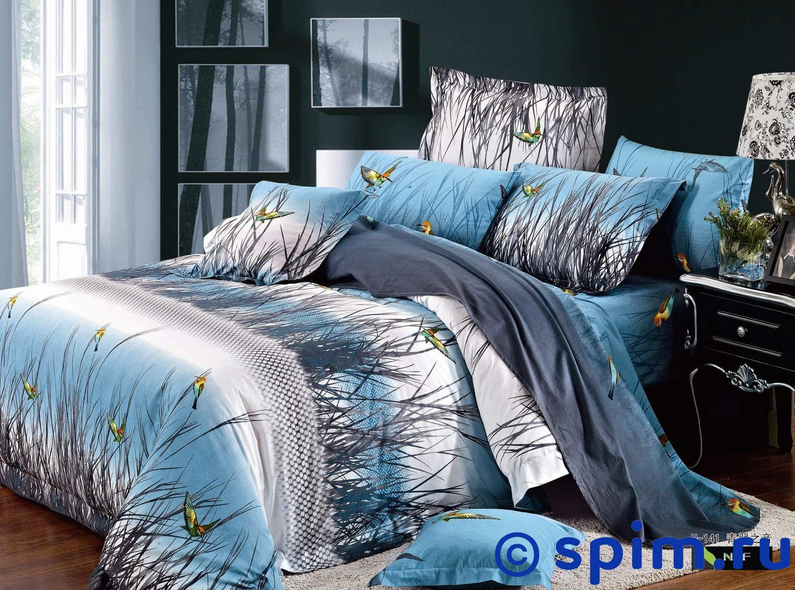 Комплект СайлиД G81 Евро-стандартСатиновое постельное белье СайлиД с фотопечатью<br>Материал: 100% хлопок (сатин, фотопечать). Плотность, г/м2: 130. Размер Sailid Г: Евро-стандарт<br><br>Размер: Евро-стандарт