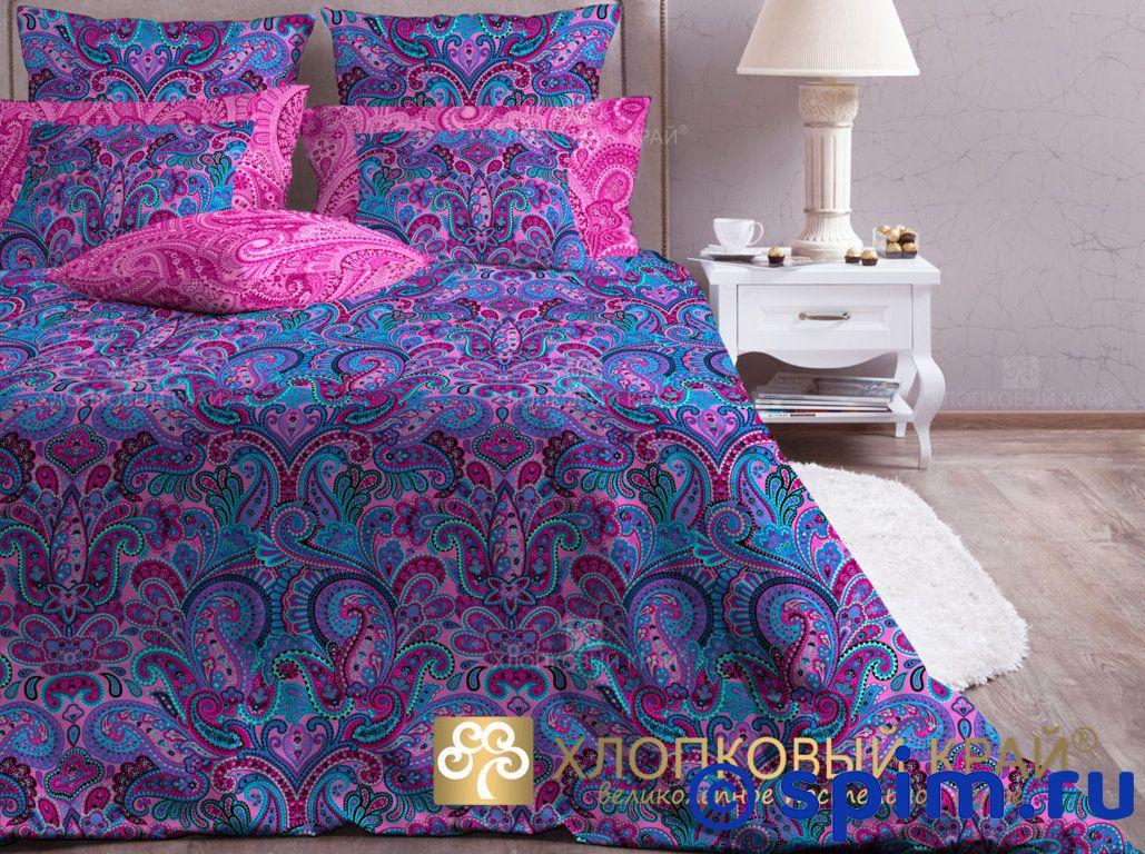 Комплект Хлопковый край Олимпос, фуксия 1.5 спальное
