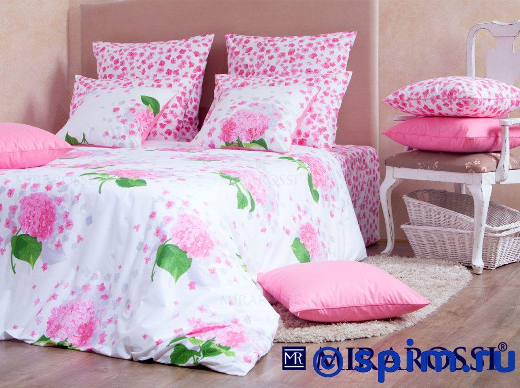 Комплект Mirarossi Virginia pink СемейноеПостельное белье Mirarossi<br>Материал: 100% хлопок (перкаль-люкс). Плотность, г/м2: 135. Размер Мираросси Вирджиния розовый: Семейное<br><br>Размер: Семейное
