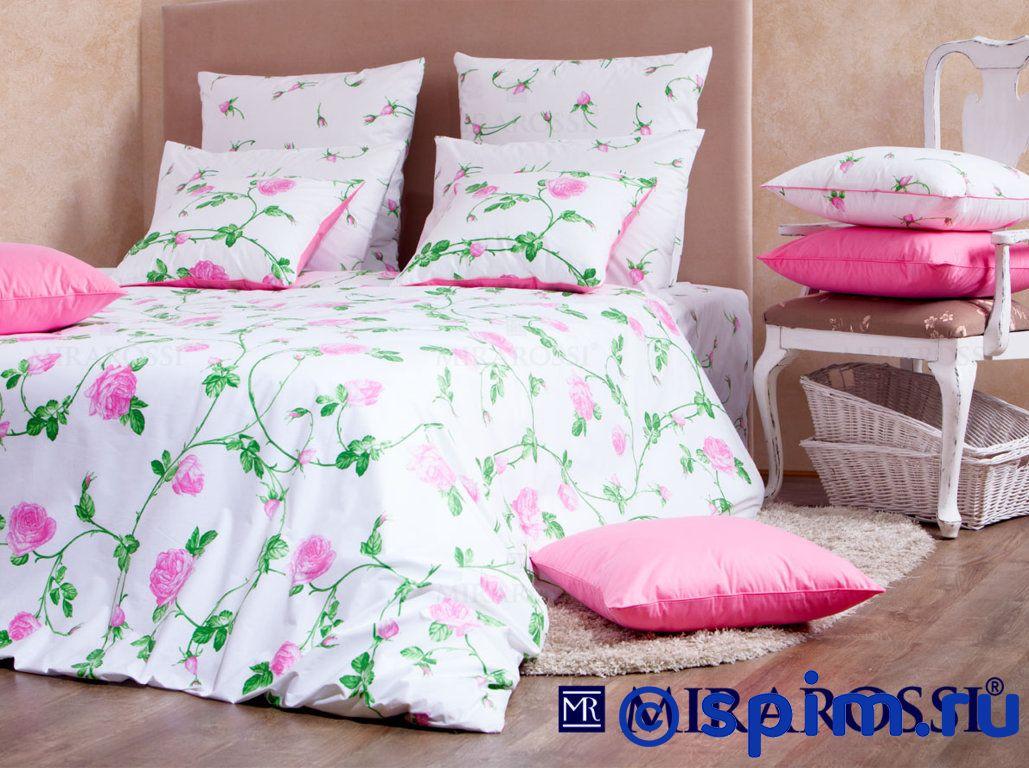 Комплект Mirarossi Vittoria pink СемейноеПостельное белье Mirarossi<br>Материал: 100% хлопок (перкаль-люкс). Плотность, г/м2: 135. Размер Мираросси Виттория розовый: Семейное<br><br>Размер: Семейное