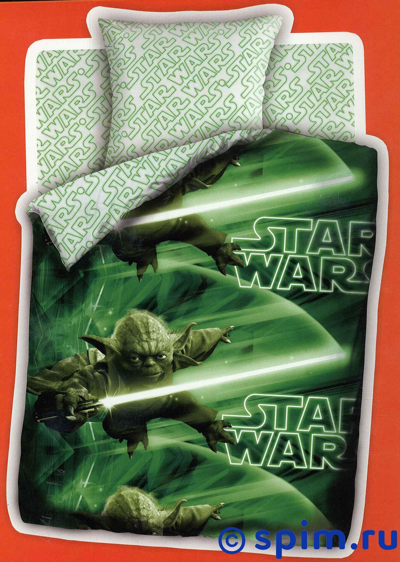 Комплект Star Wars Мастер ЙодаДетское постельное белье Непоседа<br>Материал: 100% хлопок, бязь.<br>