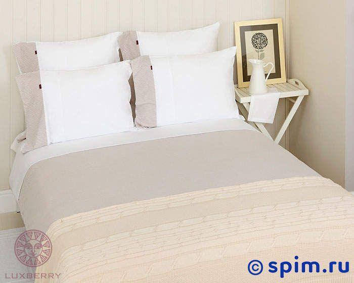Трикотажное белье Luxberry белый/бежевый 1.5 спальное
