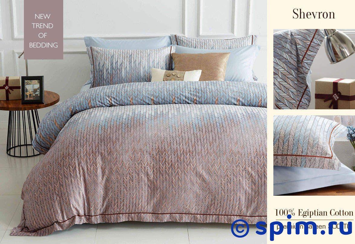 Комплект Sharmes Shevron 1.5 спальноеПостельное белье Sharmes<br>Материал: 100% египетский хлопок (сатин класса Premium). Плотность: 300 нитей/дюйм. Размер Шармес Шеврон: 1.5 спальное<br><br>Размер: 1.5 спальное