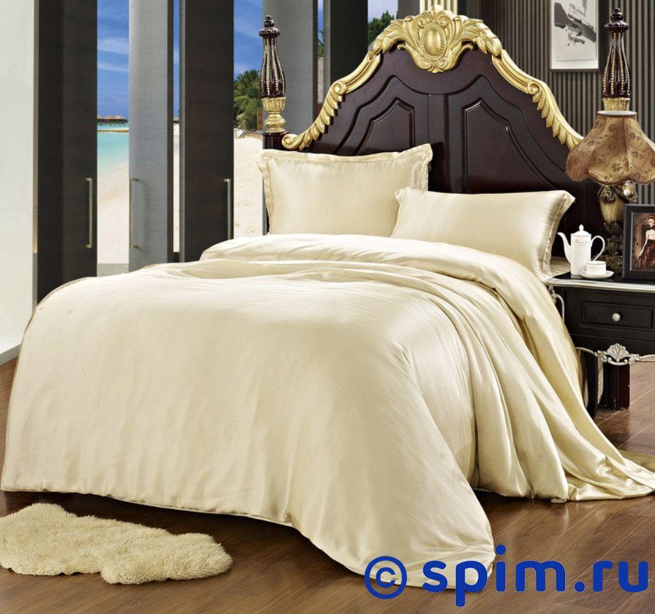 Комплект Luxe Dream Бежевый Евро-максиШелковое постельное белье Luxe Dream<br>Состав: 100% натуральный шелк сорта Mulberry. Плотность: 19 мамми. Размер Люкс Дрим Bejevyi: Евро-макси<br><br>Размер: Евро-макси