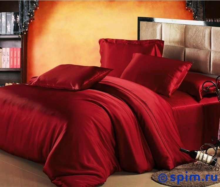 Комплект Luxe Dream Бордовый Евро-стандарт