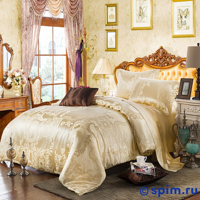 Комплект Luxe Dream Эдем Евро-стандартШелковое постельное белье Luxe Dream<br>Состав: 100% натуральный шелк сорта Mulberry, жаккардовое плетение. Плотность: 19 мамми. Размер Люкс Дрим Edem: Евро-стандарт<br><br>Размер: Евро-стандарт