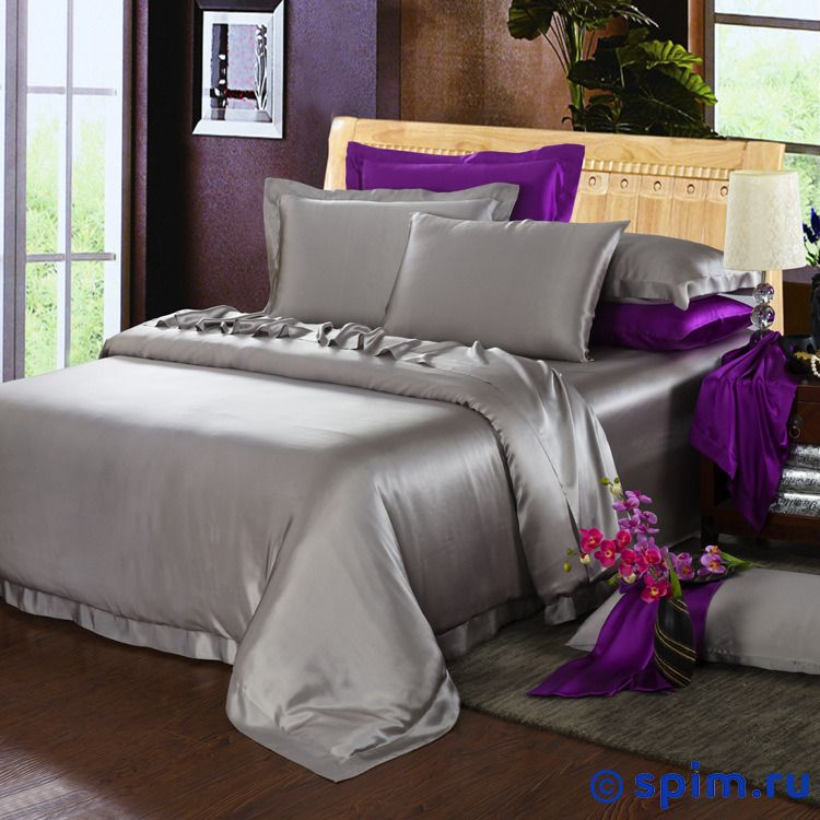 Комплект Luxe Dream Элеганс Серебро Евро-стандарт