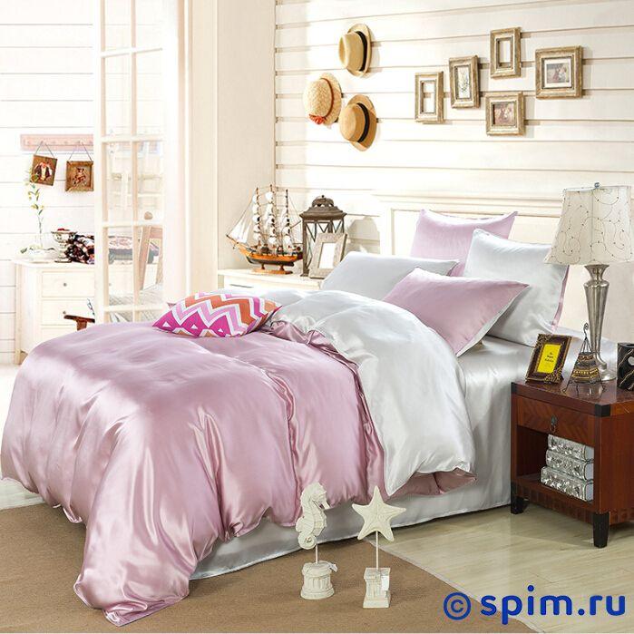 Комплект Luxe Dream Elite Розово-кремовый-Светло-серебряный Евро-стандарт