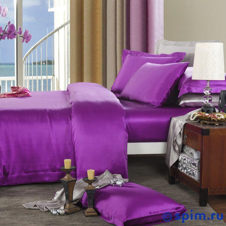 Комплект Luxe Dream Фиолетовый Евро-стандартШелковое постельное белье Luxe Dream<br>Состав: 100% натуральный шелк сорта Mulberry. Плотность: 19 мамми. Размер Люкс Дрим: Евро-стандарт<br><br>Размер: Евро-стандарт