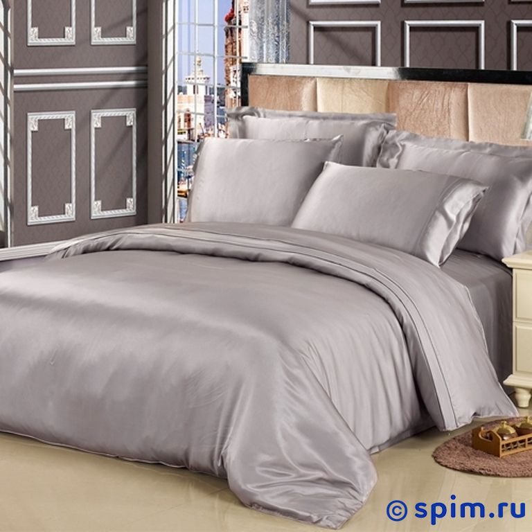 Комплект Luxe Dream Серебро Евро-стандарт