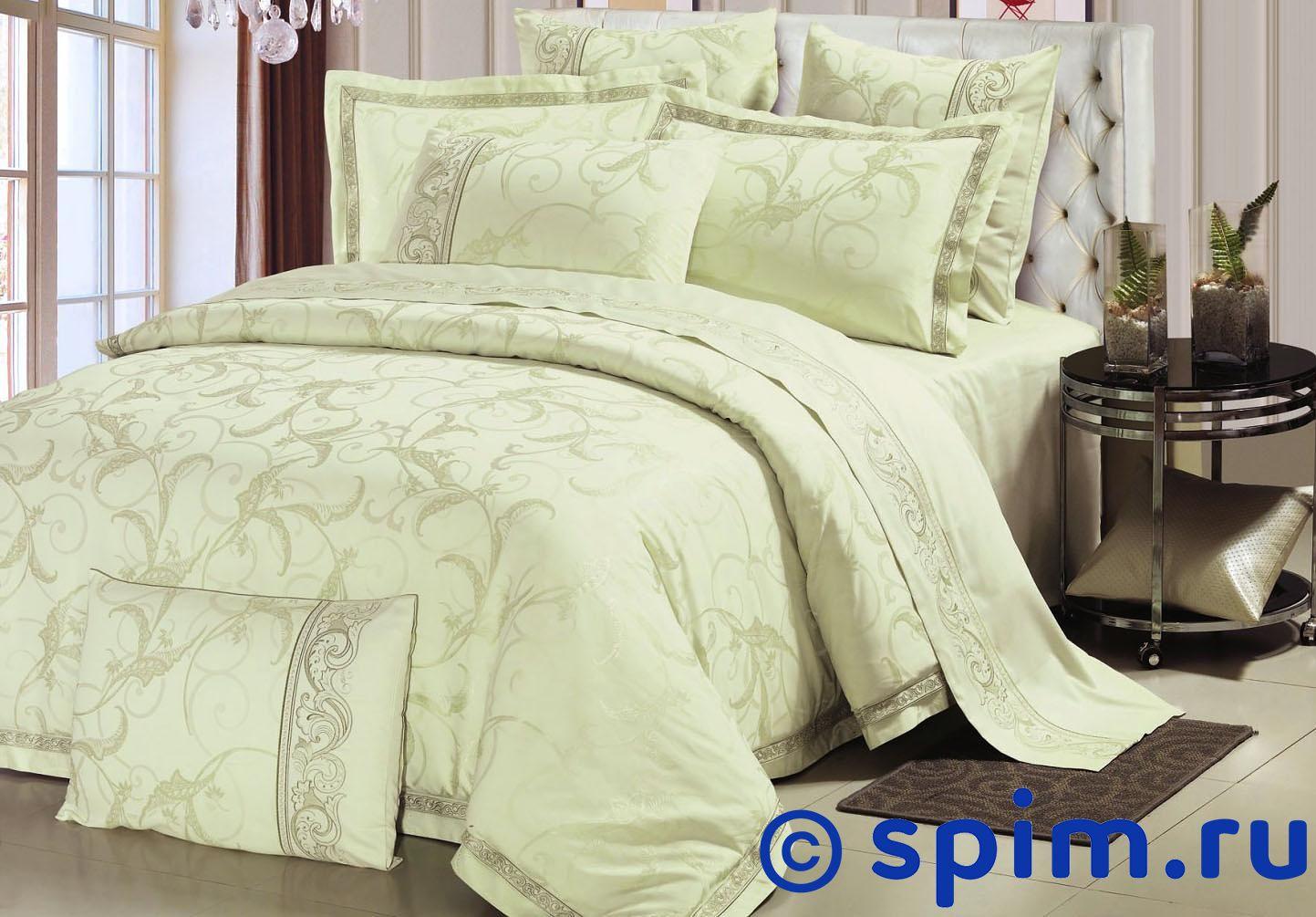 Комплект Asabella 614 СемейноеЖаккардовое постельное белье Asabella<br>Состав: жаккард с вискозой(хлопок 45%,вискоза 55%) + люкссатин (100% хлопок). Размер : Семейное<br><br>Размер: Семейное