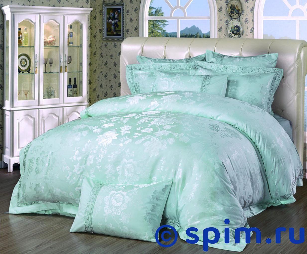 Комплект Asabella 663 Евро-максиЖаккардовое постельное белье Asabella<br>Состав: жаккард, вышивка(55% вискоза, 45% хлопок). Размер : Евро-макси<br><br>Размер: Евро-макси
