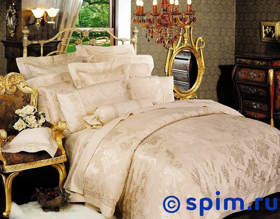 Комплект Asabella 311 Евро-максиЖаккардовое постельное белье Asabella<br>Состав: жаккард с вискозой(хлопок 45%,вискоза 55%) + люкссатин (100% хлопок). Размер : Евро-макси<br><br>Размер: Евро-макси