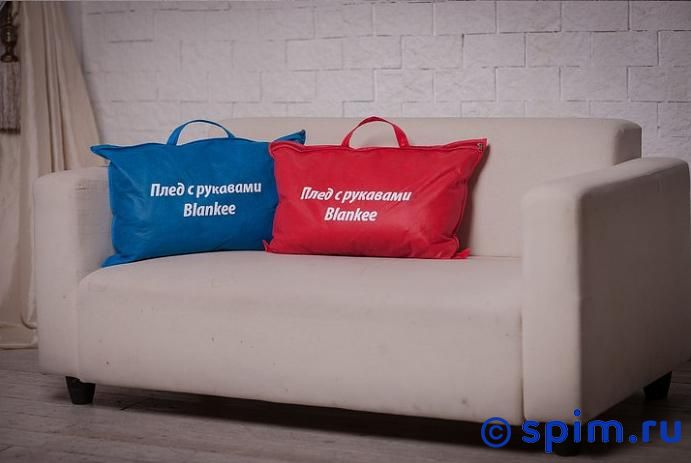 Плед Blankee с рукавами и поясом, синий от spim.ru