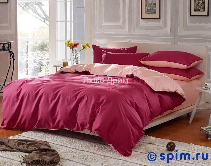Комплект Luxe Dream Бордово-Кремовый Евро-стандарт