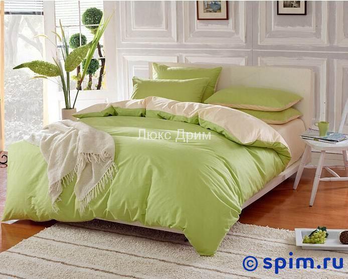 Комплект Luxe Dream Салатово-Бежевый Евро-стандартПостельное белье Luxe Dream<br>Состав: 100% хлопок (премиум-сатин). Плотность: 250 Тс. Размер Люкс Дрим: Евро-стандарт<br><br>Размер: Евро-стандарт