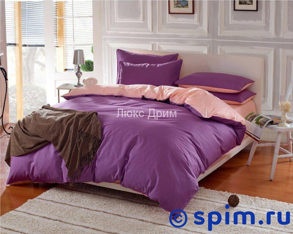 Комплект Luxe Dream Фиолетово-Кремовый Евро-стандарт