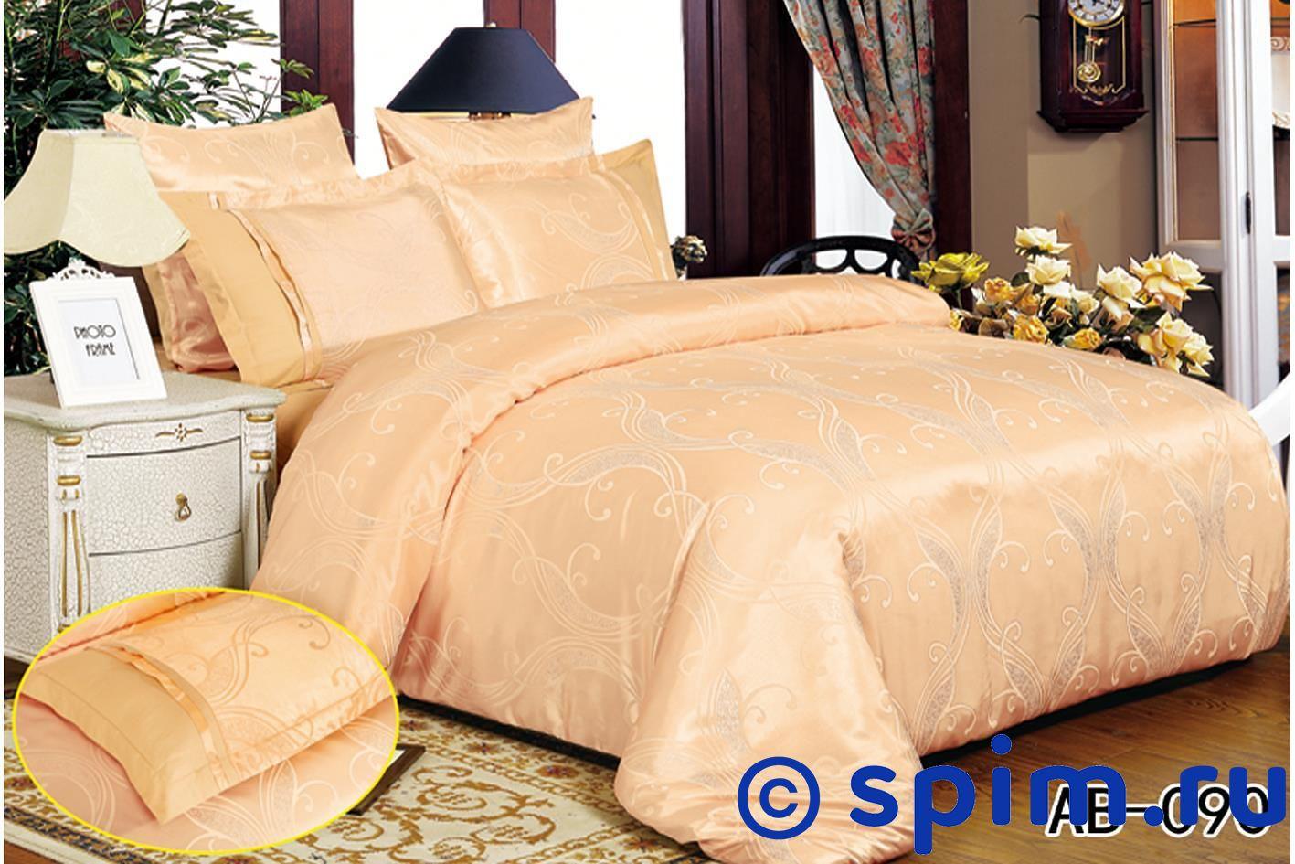 Комплект KingSilk-Arlet Ab-090 Евро-стандартПостельное белье Kingsilk-Arlet<br>Материал: верх - 50% хлопок, 50% вискоза, низ - 100% хлопок (сатин-люкс). Размер КингСилк-Арлет: Евро-стандарт<br><br>Размер: Евро-стандарт