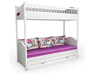 Кровать 38 попугаев Классика 2х ярусная со сплошным ограждением и ящиком