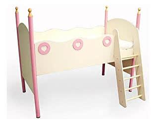 Кровать-чердак правая Принцесса