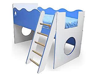 Купить кровать 38 попугаев -чердак с лестницей Морячок