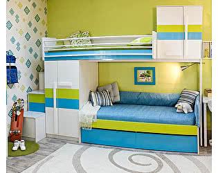 Кровать верхняя 38 попугаев Твист Олли со сплошным ограждением