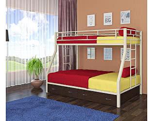 Двухъярусная кровать 4 сезона Милан (ящики венге)