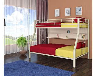 Двухъярусная кровать 4 сезона Милан (полка - дуб молочный)