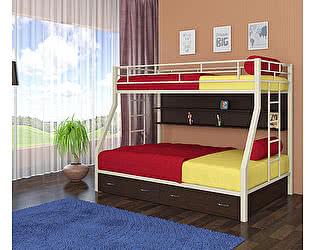 Двухъярусная кровать 4 сезона Милан (ящики, полка венге)