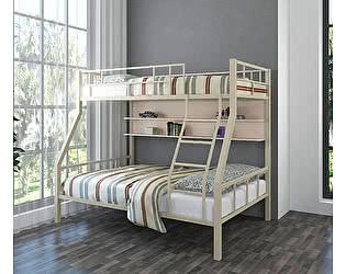 Купить кровать 4 Сезона Раута (полка дуб молочный) двухъярусная