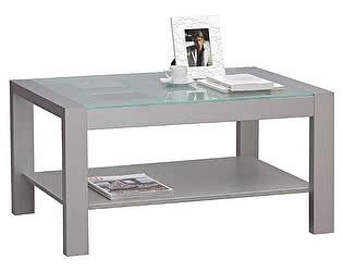 Столик журнальный массив со стеклом