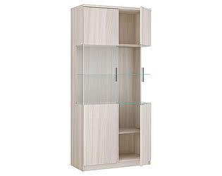 Шкаф 2х дверный со стеклом Боровичи Модерн, арт. 17.07