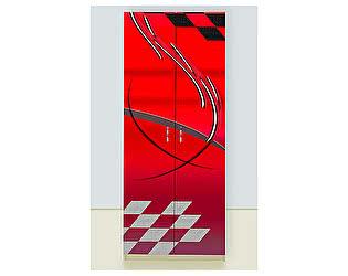 Шкаф 2х дверный Молния красный