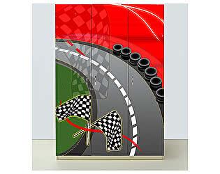 Шкаф 3х дверный Спорткар красный