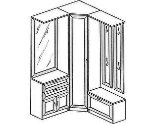 Прихожая угловая ГРОС Алёна 11 (рамка)
