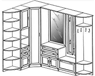 Прихожая угловая ГРОС Алёна 17 (рамка)