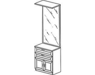 Тумба с зеркалом ГРОС серии Алена ПМ 11 (рамка)