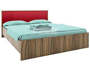 Кровать 160 Столплит Марсель ночь марино (бордо), Арт. СБ-1077 + F-1077