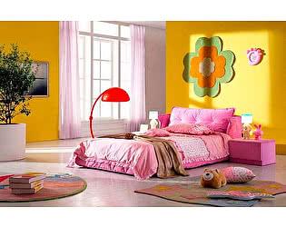 Кровать в ткани со стразами Татами арт. AE010