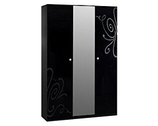 Купить шкаф Ярцево 3-х створчатый Европа-9 (черный), арт. 091/631