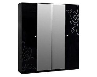 Шкаф 4-х створчатый Ярцево Европа-9 (черный), арт. 091/641