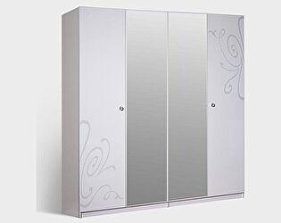 Шкаф 4-х створчатый без зеркала Ярцево Европа-9 (белый),  арт. 091/741