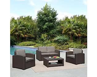 Купить  комплект садовой мебели Афина-мебель AFM-2017B Dark brown